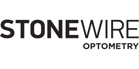 Stonewire optometry logo black and white