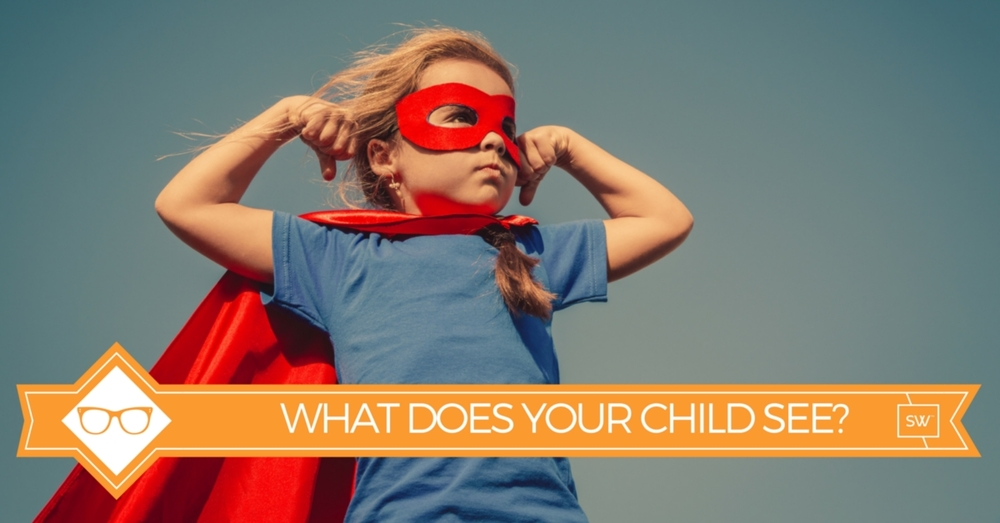 Photo of child in super hero outfit