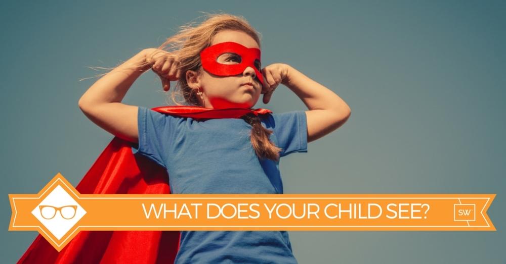 young girl with mask looks like a superhero