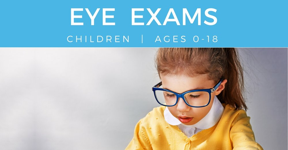 Eye Exams children young girl reading
