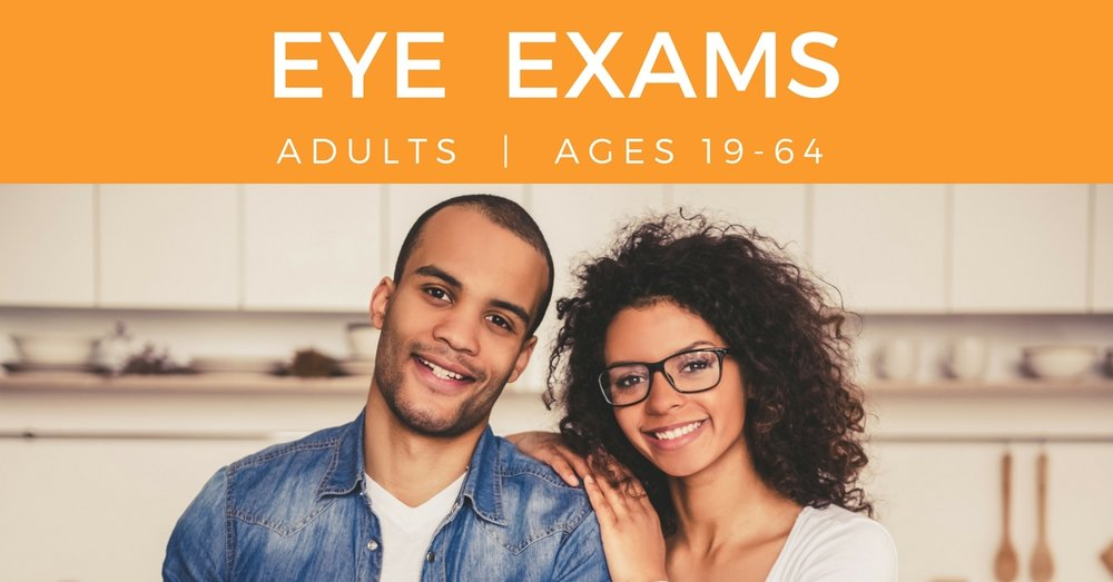 Eye Exam Adults - young couple smiling