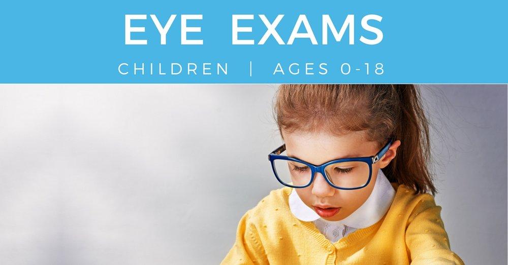Eye Exam Children - young girl reading