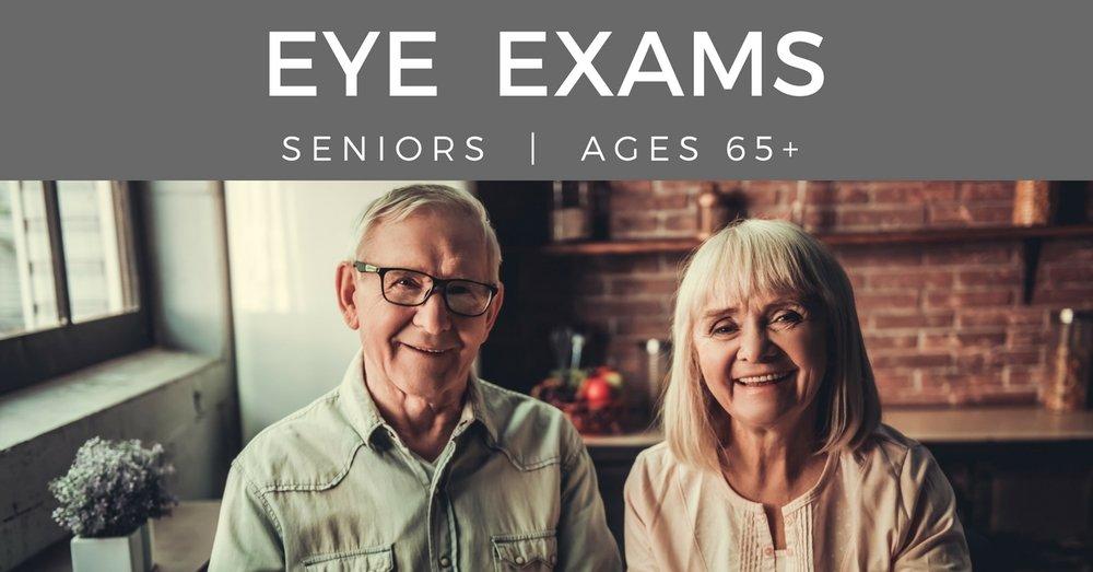 Eye exams seniors - couple together