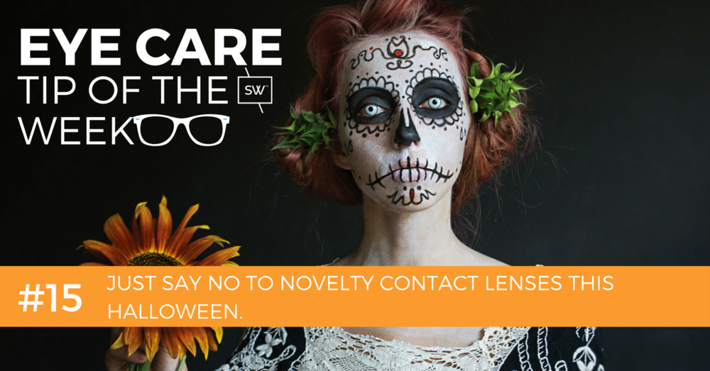 Just say no to novelty halloween contact lenses