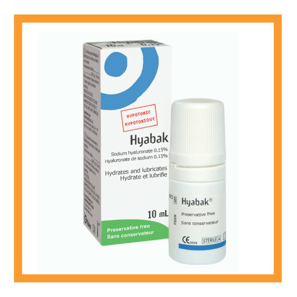 Hyabak  - Sodium hyaluronate 0.15% - Preservative Free   Cost: $20.99 per 10ML +GST