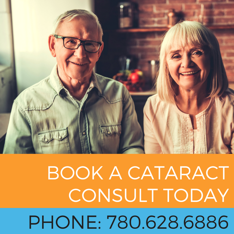 click through link TO BOOK A CATARACT CONSULT AT STONEWIRE OPTOMETRY OR CALL 780.628.6886