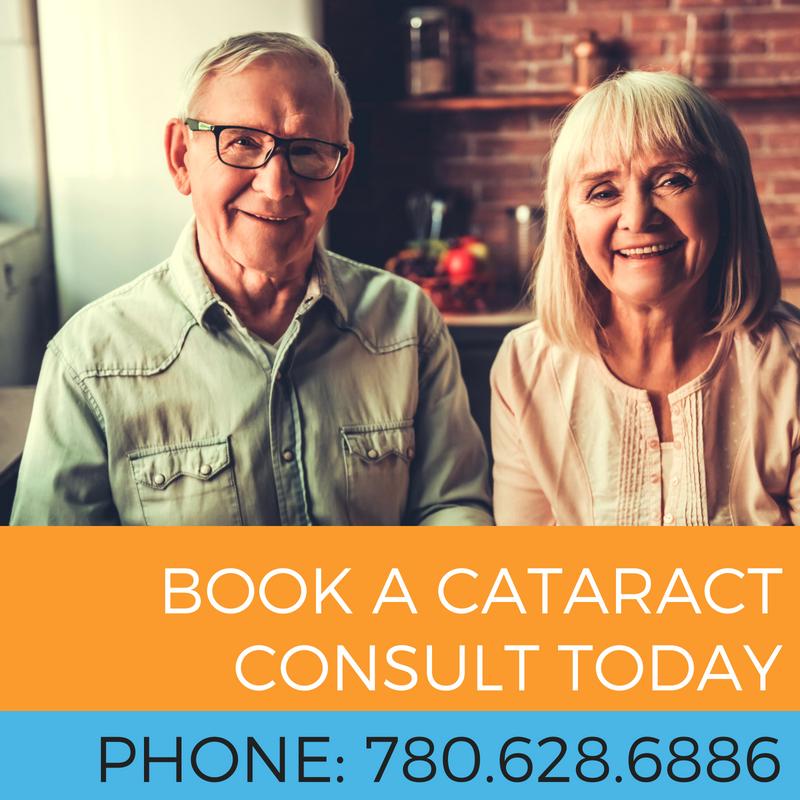click through link to book a cataract consultation in edmonton alberta, phone 780.628.6886