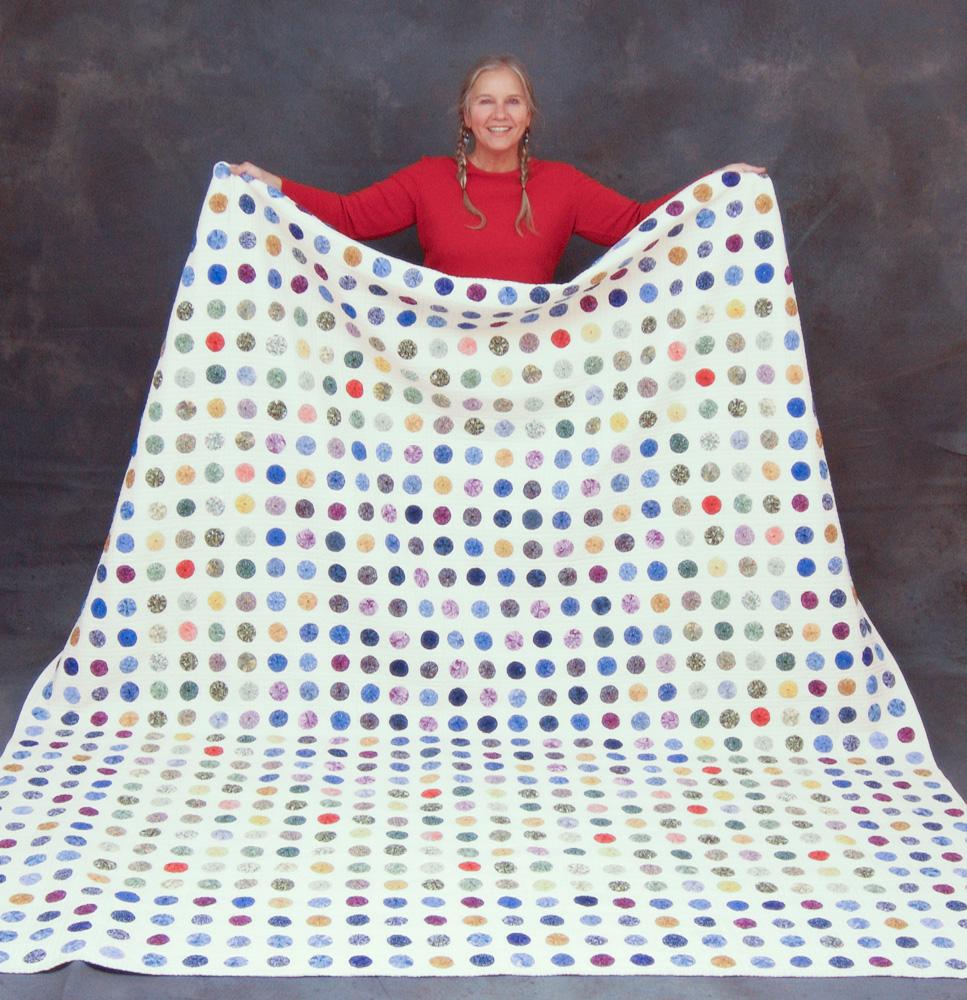 Yo yo quilt by Monika Lidman