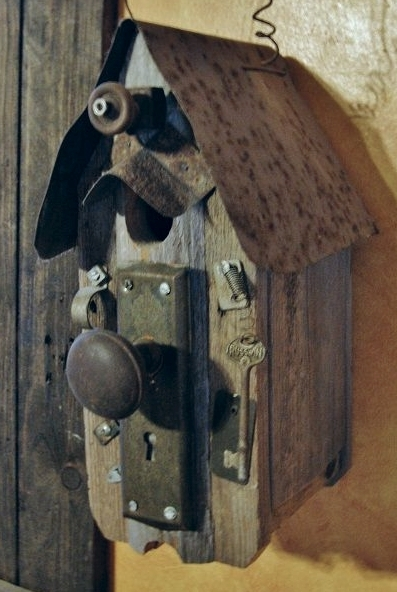 This fun and funky type of birdhouse is great for an indoor decoration - but too perilous for young bird families.