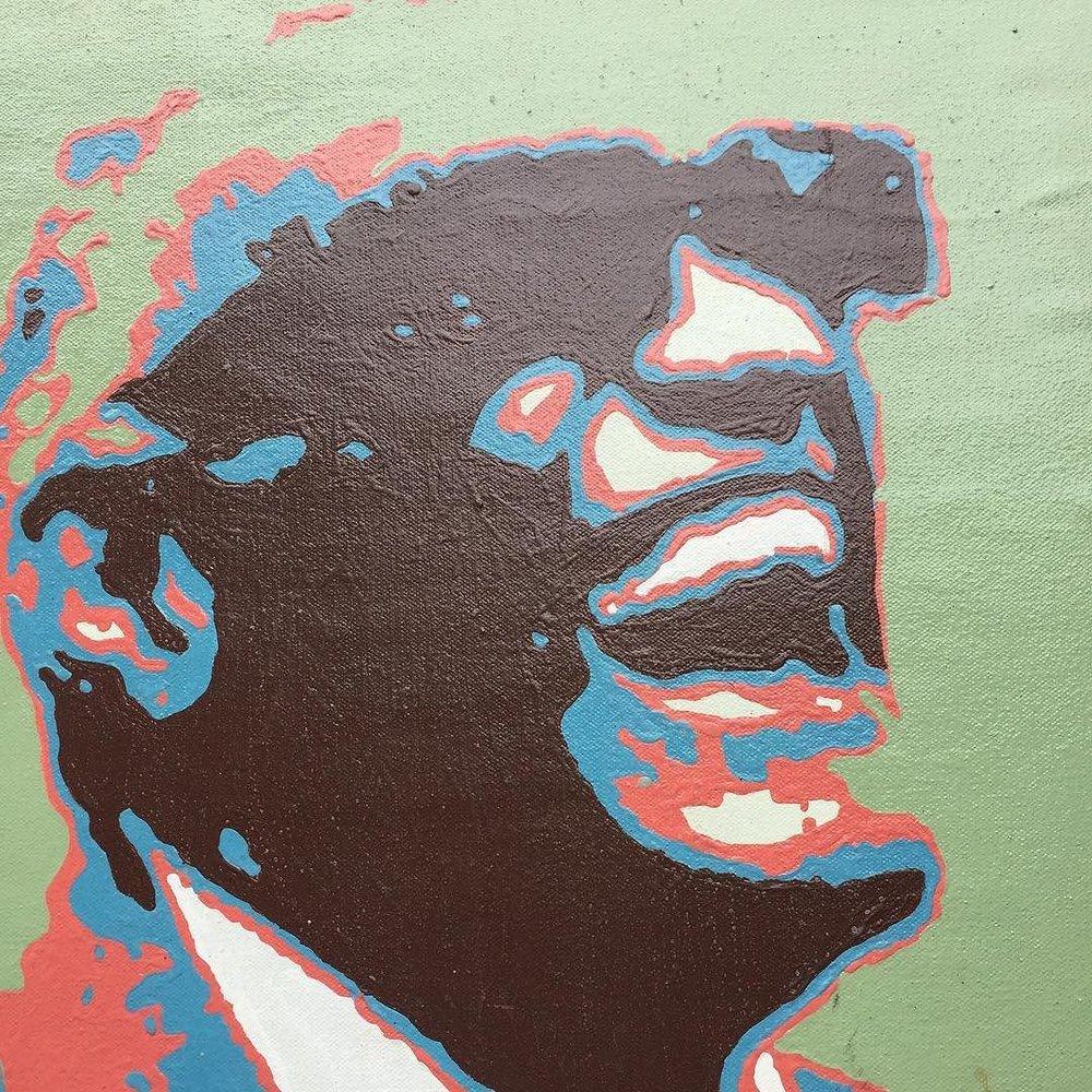 #verkstad #monikalidman #painting #raycharles