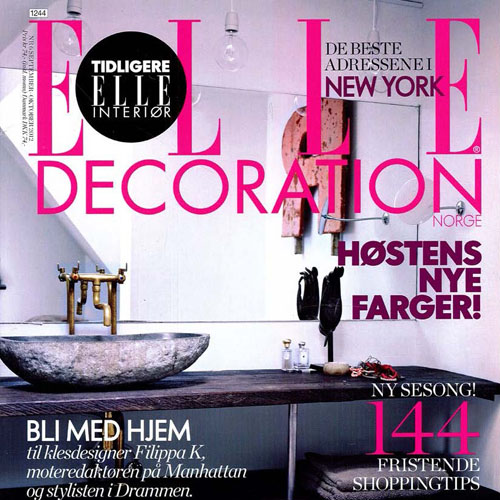 "Elle Decoration ""Greene Street Loft"" September 2012 Denmark"