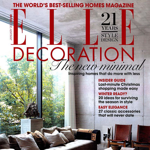 "Elle Decoration ""Think Big"" January 2011 New York, NY"