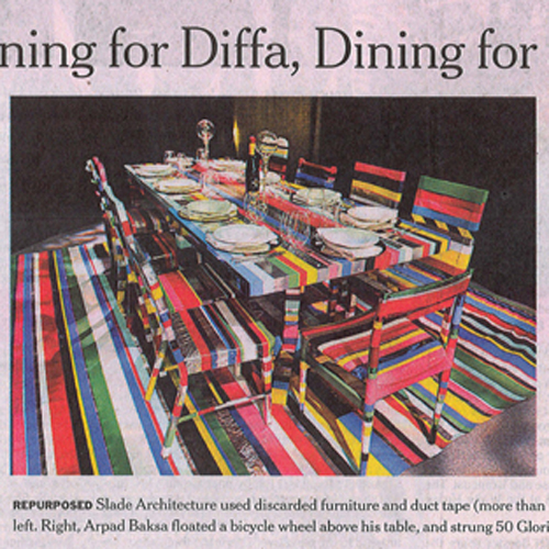 "The New York Times ""Designing for DIFFA, Designing for a Cause"" March 2010 New York"