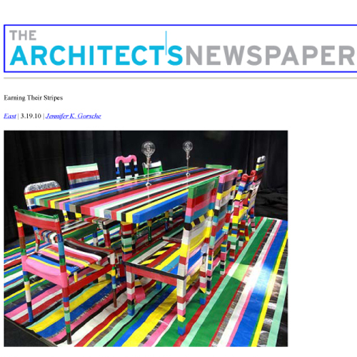 "The Architects Newspaper ""Earning Their Stripes"" March 19, 2010  New York"