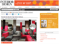 "Interior Design Magazine  ""Terminally Hip: Newark's Virgin Atlantic Clubhouse""  September 24, 2013"
