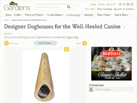 "HGTV ""Designer Doghouses for the Well-Heeled Canine"" May 09, 2013"
