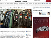 "The New York Times ""Where the Racks Hold Ghosts of Our Youth"" January 11, 2012"