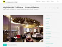 "Re-Think the Future  ""Virgin Atlantic Clubhouse 