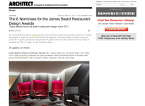 "Architect ""The Nominees for the James Beard Restaurant Design Awards"" March 21, 2014"