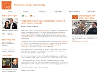 "The Editor At Large  ""Established and Emerging Firms Honored with Design Awards"" April 08, 2014"