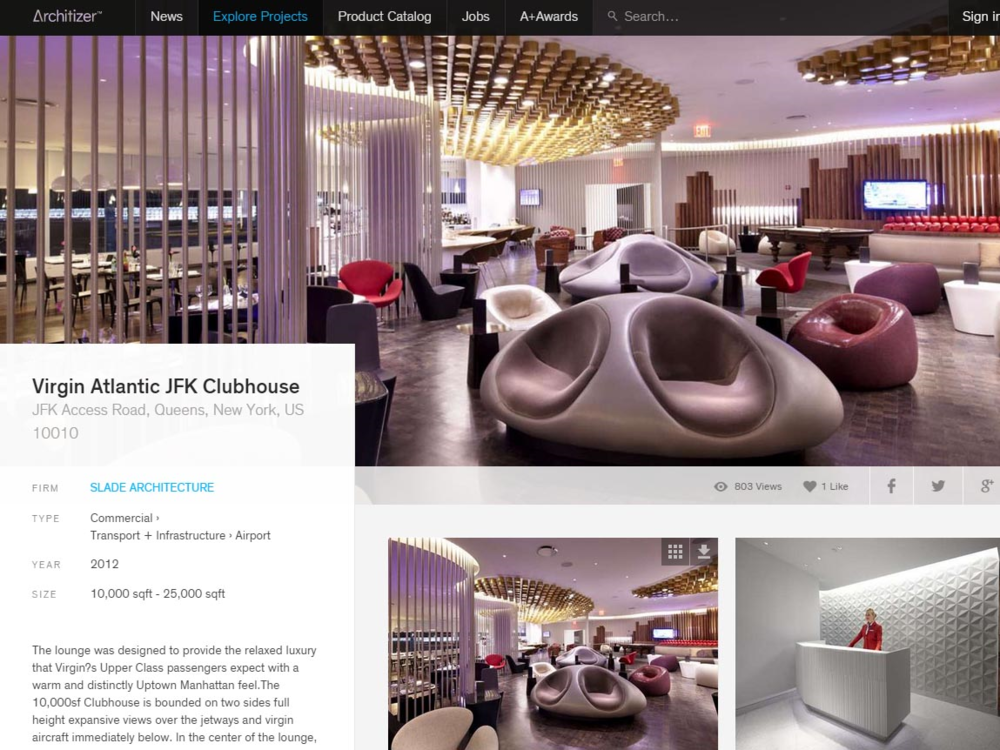"Architizer  ""Virgin Atlantic JFK Clubhouse"" June 2013"