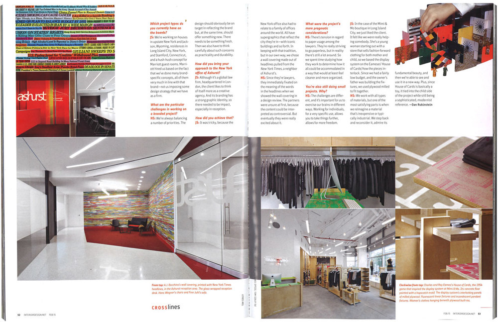 interior design magazine feature slade architecture
