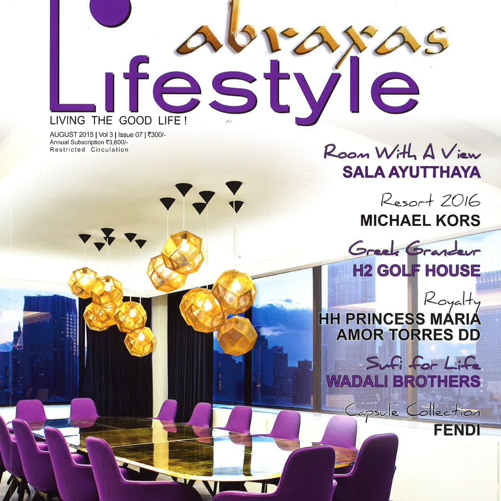 "Abraxas Lifestyle Magazine   ""The LAX Clubhouse""   August  2015   India"