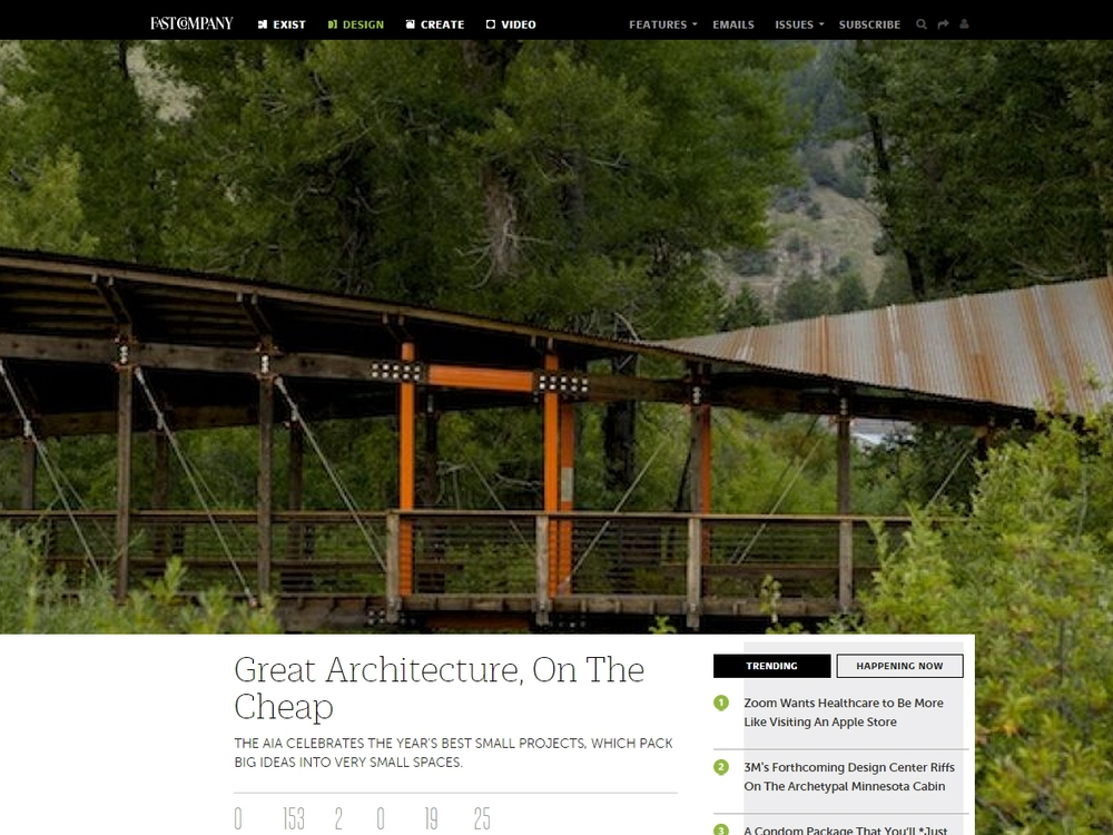 "FastCoDesign ""Great Architecture, On The Cheap"" July 14, 2010"