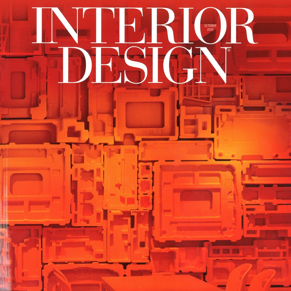 "Interior Design Magazine ""Taking Care of Business: Interior Design's Inaugural MakeItWork Awards"" and ""Influence is Immorality"" October 2015 USA"