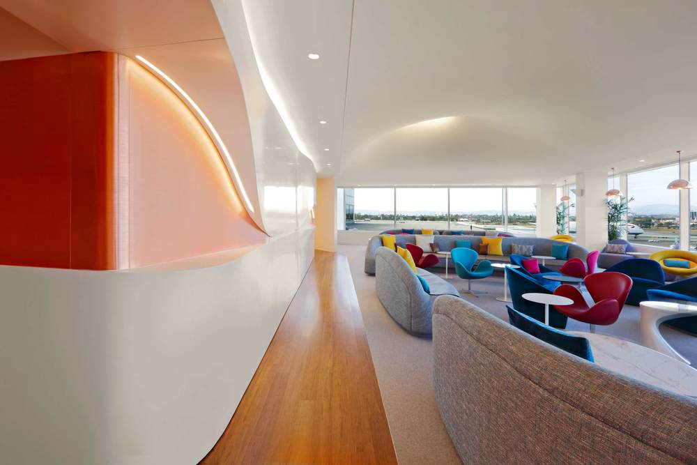The Virgin Atlantic Clubhouse At LAX Is A Finalist In This Years Interior Design Magazine Best Of Year Awards Join Us December 3rd As Winners Are
