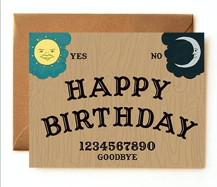 Ouija Birthday Card