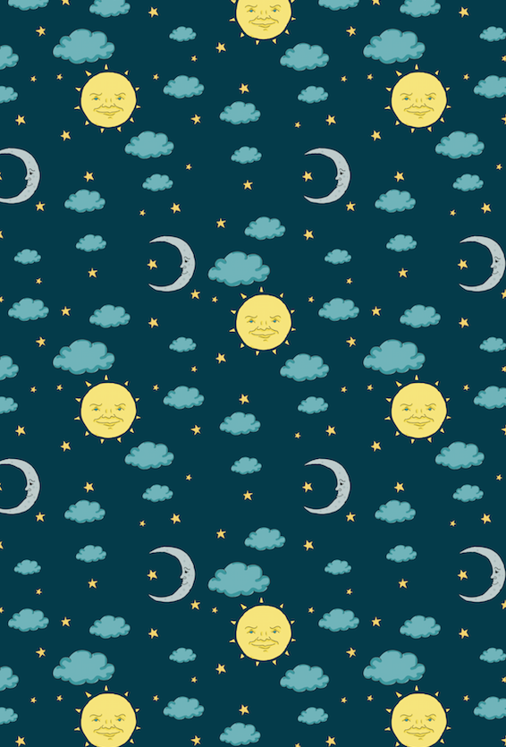 Vintage Sun and Moon Gift Wrap