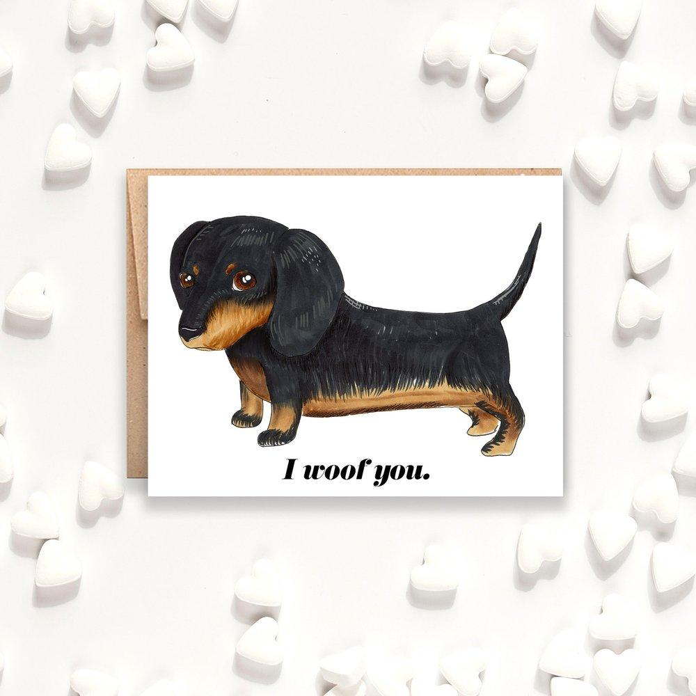 I Woof You Card