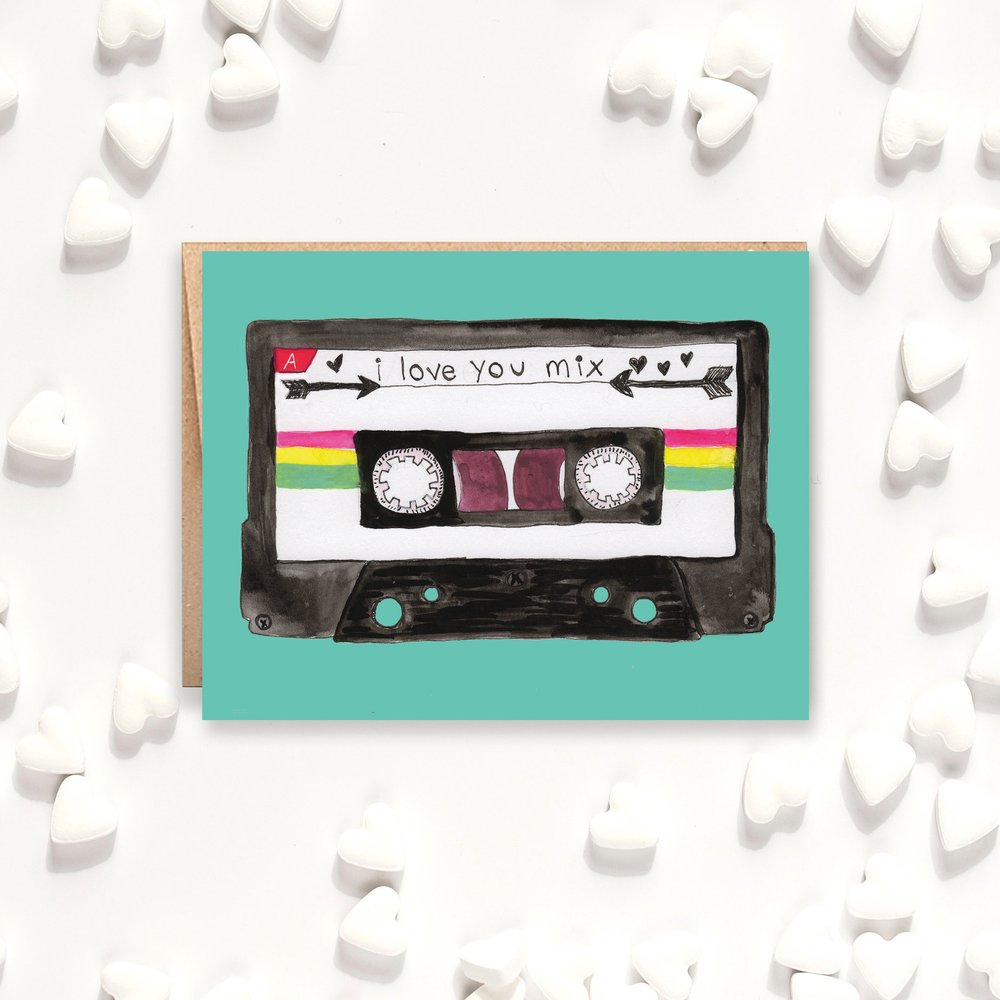I Love You Mix Tape Card