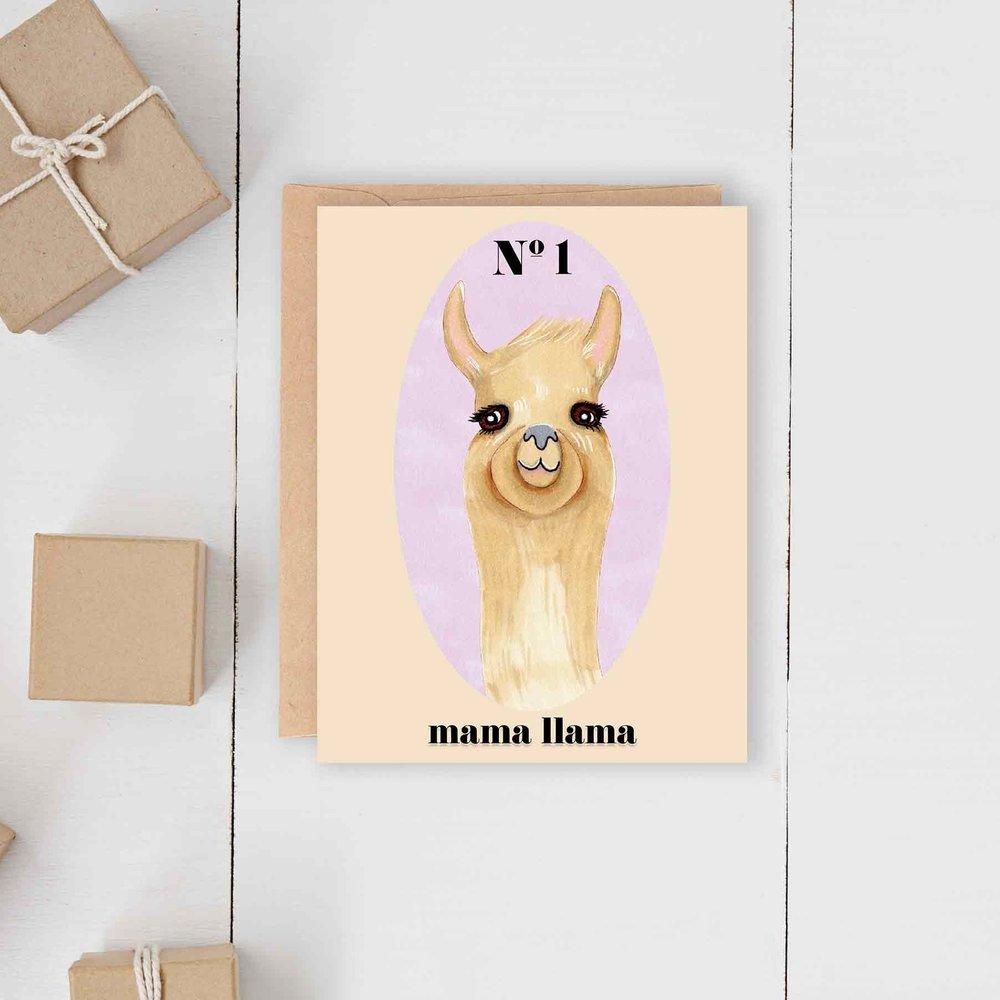 Mama Llama Card