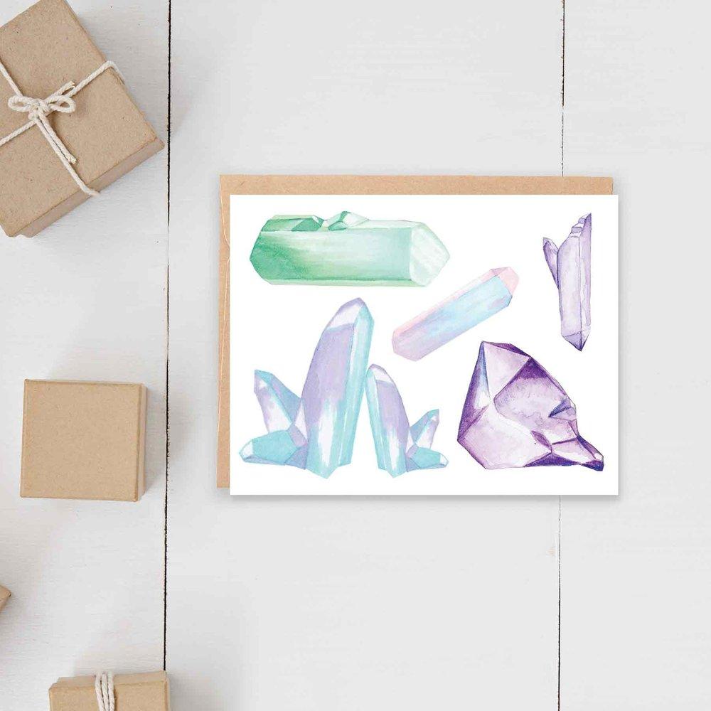 Mystic Crystals Card