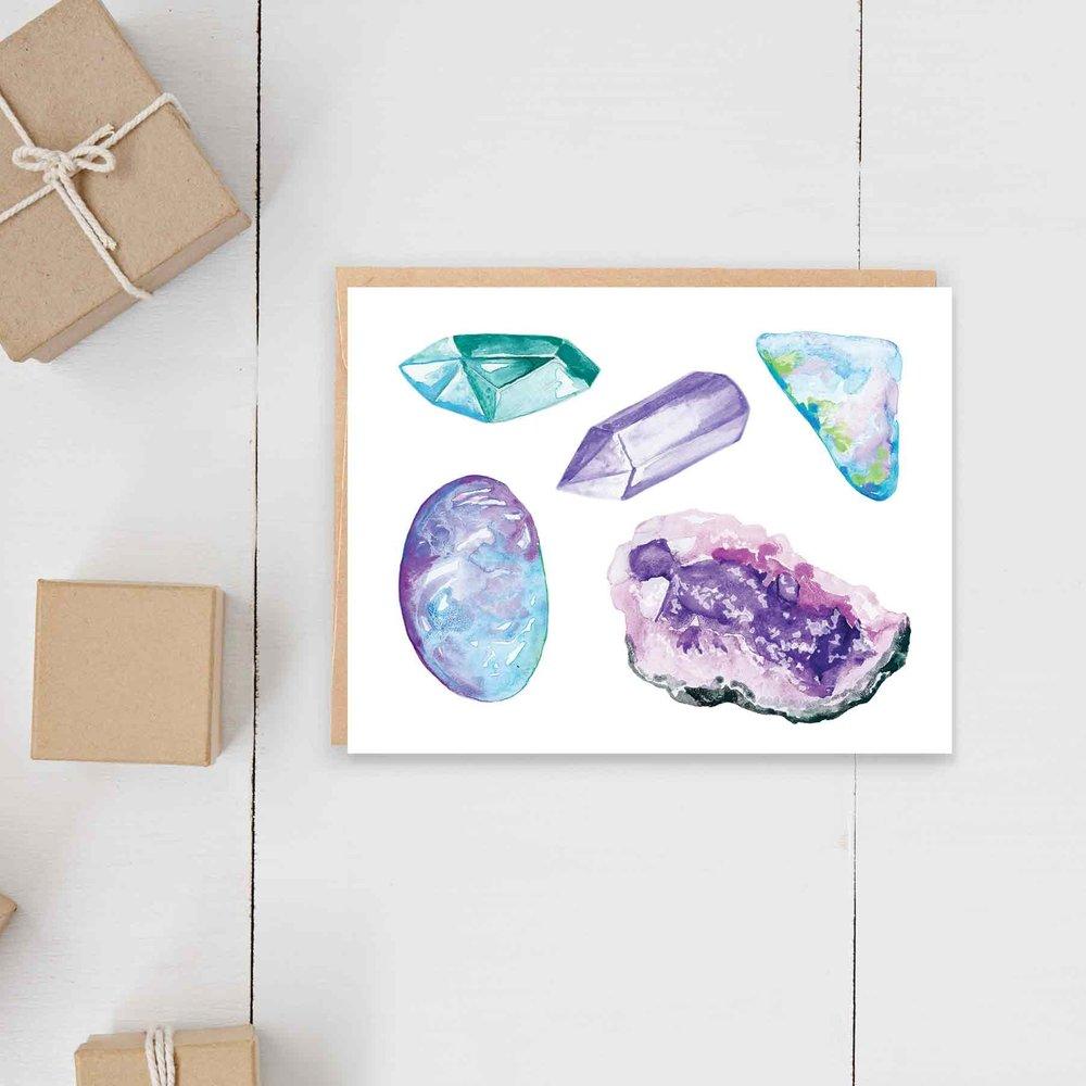 Healing Crystals Card