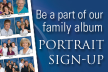 Click the button to schedule your portrait appointment. Portrait sessions are held right here at Risen Savior.