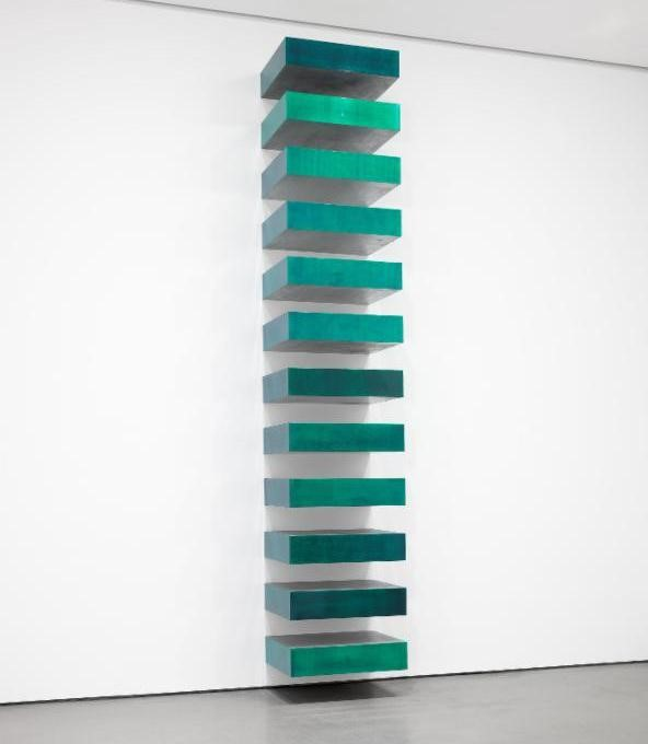 Above: Untitled (Stack) 1967. © 2016 Judd Foundation / Artists Rights Society (ARS), New York.  Image courtesy of The Museum of Modern Art / Art Resource