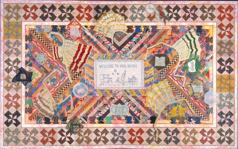 Above: Wonderland. 1983. © 2016 The Estate of Miriam Schapiro / Artists Rights Society(ARS), New York