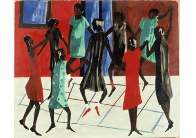 Jacob Lawrence ,  Children at Play , 1947 © 2017 The Jacob and Gwendolyn Knight Lawrence Foundation, Seattle / Artists Rights Society (ARS), New York