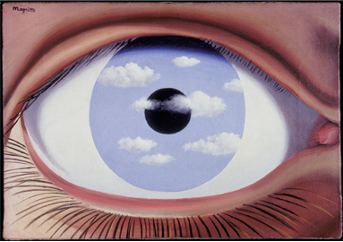 René Magritte ,  The False Mirror , 1929 © 2017 C. Herscovici / Artists Rights Society (ARS), New York