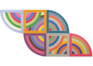 Frank Stella ,  Harran II , 1967 © 2017 Frank Stella / Artists Rights Society (ARS), New York