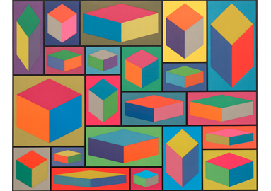 Sol LeWitt ,  Distorted Cubes (E) from Distorted Cubes (A-E) , 2001 © 2017 The LeWitt Estate / Artists Rights Society (ARS), New York
