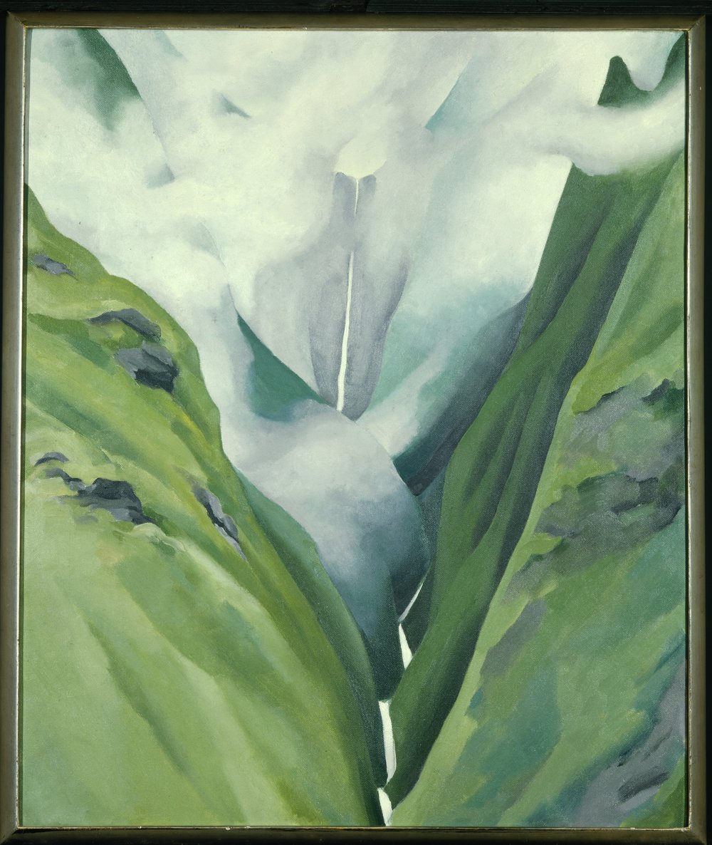 Waterfall No. III, Iao Valley. 1939. By Georgia O'Keeffe. Honolulu Academy of Arts, Honolulu, Hawaii, USA. Art Resource, NY