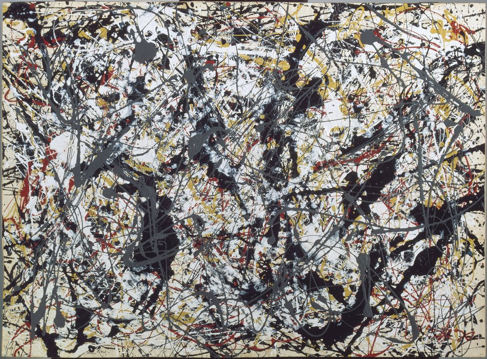 Jackson Pollock ,  Silver over Black, White, Yellow and Red , 1948 © 2018 The Pollock-Krasner Foundation / Artists Rights Society (ARS), New York