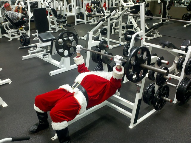 Even Santa needs some in-season strength maintenance.