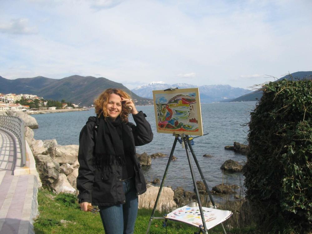 Cheryl Sylivant in Montenegro