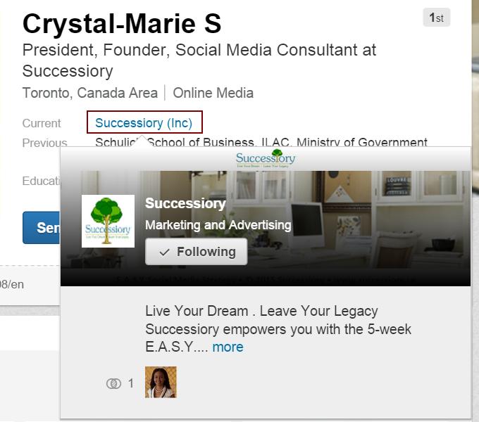 LinkedIn Co HLink (Successiory)