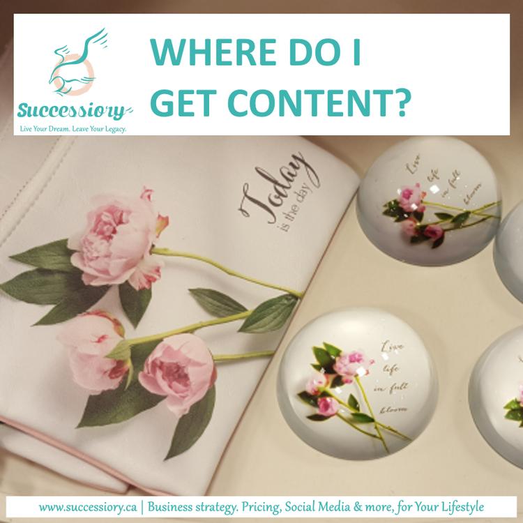 Social media. Where do I find content?
